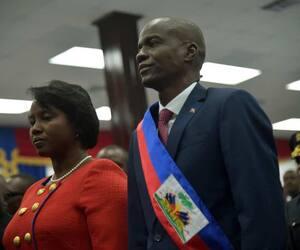 Jovenel Moïse et son épouse en 2017