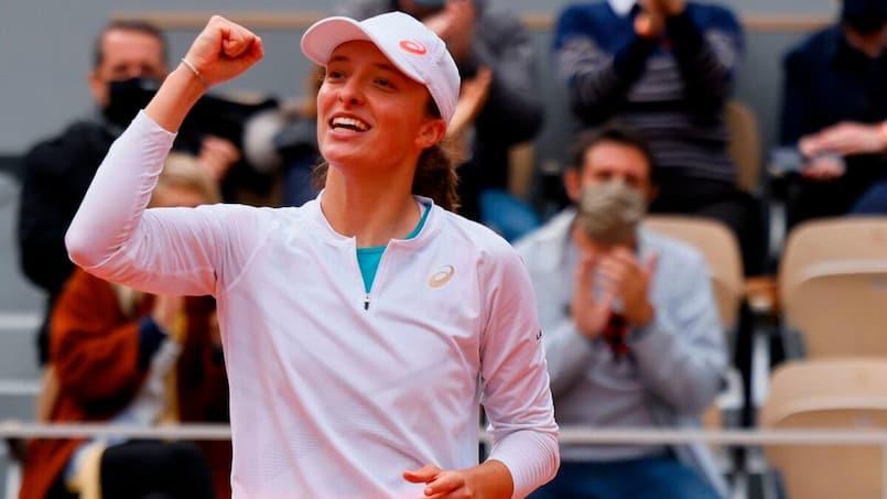 Roland-Garros: une première finale majeure pour Iga Swiatek