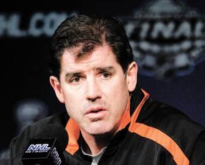 Peter Laviolette a été le 17e entraîneur de l'histoire des Flyers de Philadelphie.