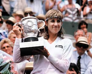 Chris Evert : sept titres à Roland-Garros.