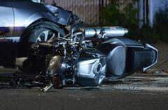 Montréal: un motocycliste blessé dans une collision avec un véhicule