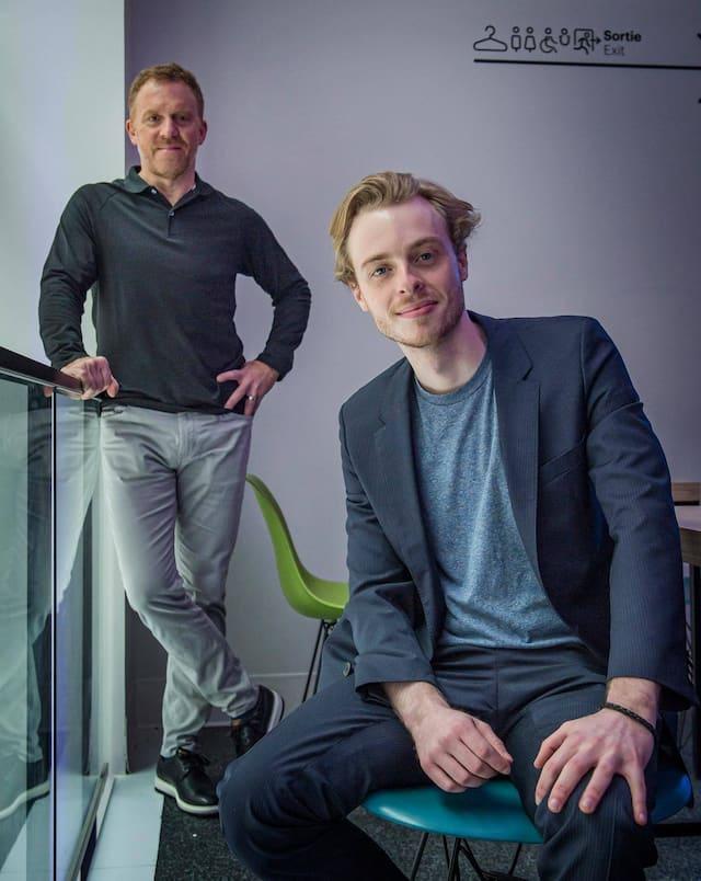 Denys Lavigne (Co-Fondateur et directeur de la Création chez Oasis) et Emile Roy (Vidéastre et Réalisateur)