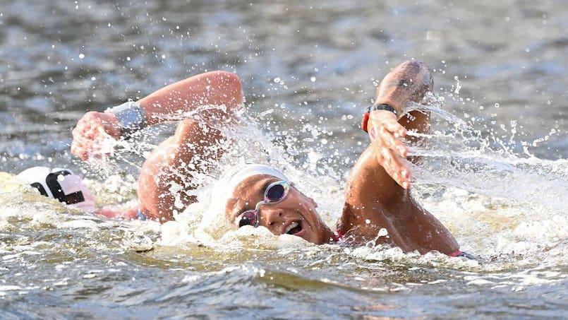 Kate Sanderson 18e au 10 km en eau libre