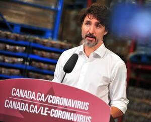 Le premier ministre canadien, Justin Trudeau, était de passage à Gatineau, vendredi.