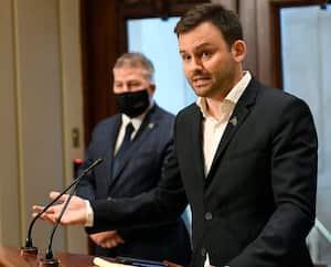 Le chef du Parti québécois, Paul St-Pierre Plamondon