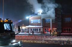 Incendie suspect à Laval: des entreprises de la construction ciblées