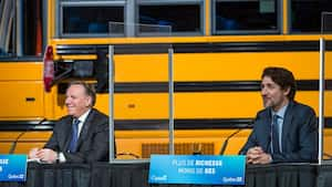 François Legault et Justin Trudeau