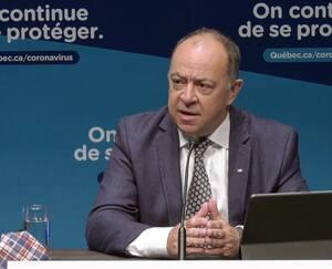 Le ministre de la Santé et des Services sociaux, Christian Dubé, a présenté le nouveau système d'alerte régionale, mardi à Montréal.