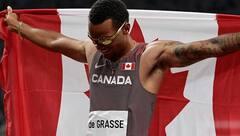 Andre De Grasse remporte le bronze au 100 m