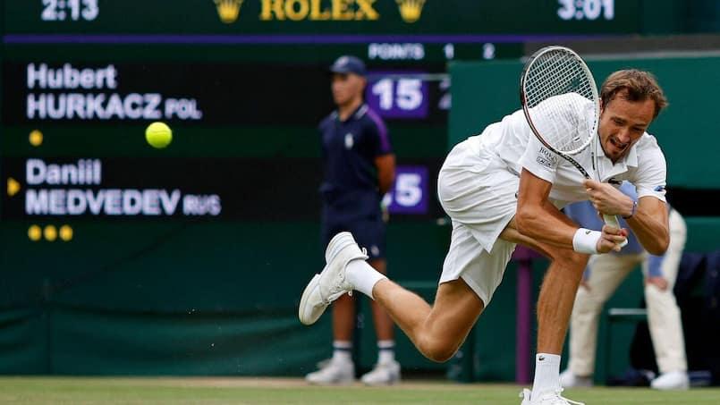 Wimbledon: la porte de sortie pour Medvedev