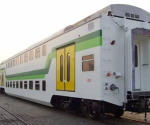 Exo a conclu un contrat pour 44wagons de trains à deux étages semblables à ceux-ci avec le géant chinois CRRC en 2017.