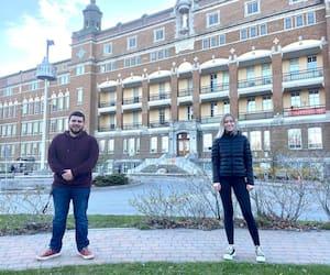 Anaïs Morin (à droite sur la photo) a lancé une pétition pour réclamer l'annulation de l'épreuve uniforme de français qui se tient pour la première fois à distance ce printemps, avec la collaboration d'Éric-Olivier Lévesque. Ils sont tous les deux étudiants au cégep de Rimouski.