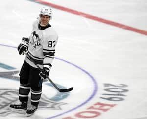 Sidney Crosby lors du match des étoiles le 26 janvier 2019.