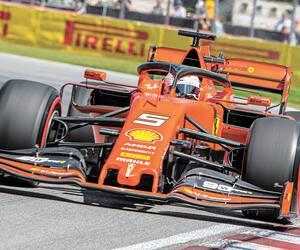 Sebastian Vettel au volant de sa Ferrari lors des essais libres du Grand Prix du Canada, à Montréal, en juin dernier.