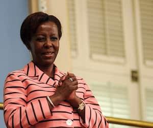 L'actuelle secrétaire générale de la Francophonie, Louise Mushikiwabo, lors de son passage à l'Assemblée nationale en juin 2019.