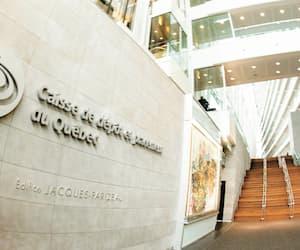 Le siège social montréalais de la Caisse de dépôt et placement du Québec.