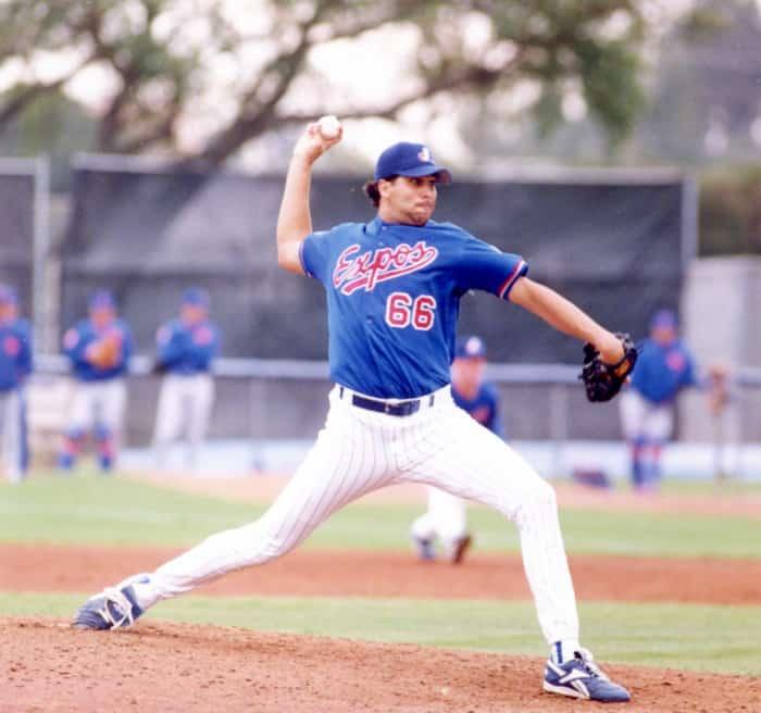 Derek Aucoin a brièvement porté l'uniforme des Expos en 1996.
