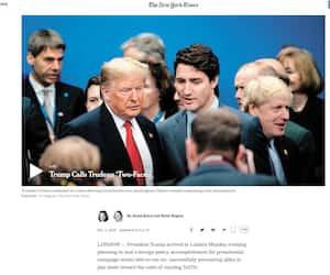 Le New York Times (États-Unis) a réservé une grande place à l'incident, comme bien d'autres médias couvrant l'actualité internationale.