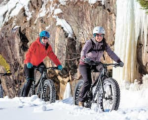 Des sentiers de tous les niveaux sont entretenus pour le vélo à pneus surdimensionnés (VPS).