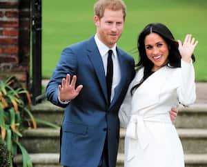 Le prince Harry et l'actrice Meghan Markle après l'annonce de leur mariage, le 27novembre 2017.