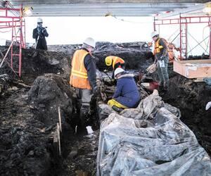 La présumée palissade avait été découverte en novembre 2018 lors de travaux sous la rue Sainte-Ursule, dans le Vieux-Québec