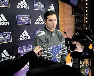 David Perron en est à une première participation au match des étoiles de la Ligue nationale de hockey. L'attaquant des Blues de St. Louis a répondu aux questions de la presse jeudi.