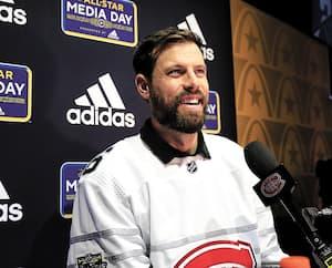 C'est un Shea Weber souriant qui s'est adressé jeudi aux journalistes présents à St. Louis pour le week-end des étoiles.