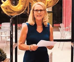 L'ex-déléguée Elizabeth MacKay lors d'une activité à Los Angeles.