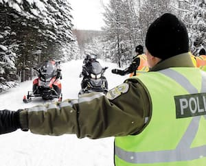 Les policiers vont être très actifs cet hiver dans le cadre d'opérations de surveillance un peu partout dans les sentiers du réseau québécois.