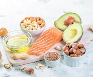 Selection of good fat sources - healthy eating concept. Ketogenic diet concept