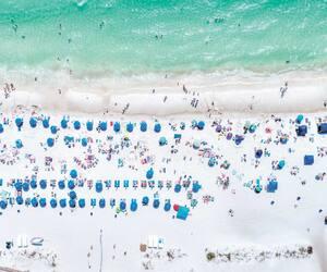 Vue du balcon du Majestic Beach Resort sur le golfe du Mexique.