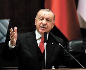 Le président turc Recep Tayyip Erdogan lors d'un rassemblement à Ankara mercredi.
