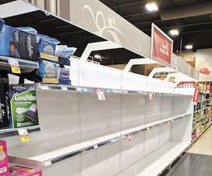 Comme dans tous les épiceries et magasins à grande surface, il ne restait plus de papier de toilette au IGA de Saint-Romuald, vendredi dernier.