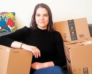 Camille Dauphinais-Pelletier a déjà commencé à faire ses boîtes en vue de son déménagement prévu le 4 avril à Montréal.