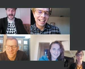 Les Bloody Sylvain de gauche à droite : Vincent, Marc-André Lemieux, Carl, Rachelle McDuff et Annabelle Blais.