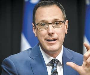 Le ministre de l'Éducation et de l'Enseignement supérieur du Québec, député de Chambly à l'Assemblée nationale du Québec, Jean-François Roberge, le lundi 27 avril 2020.