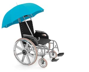Blue Umbrella Wheelchair