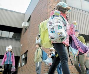 Sur cette photo à titre illustratif, des élèves étaient de retour à leur école de Stoneham, le 11 mai dernier.