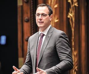 Le ministre de l'Éducation, Jean-François Roberge, le 13mai, à l'Assemblée nationale.