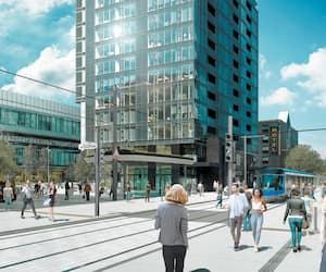La rue de la Couronne sera réservée au tramway, aux piétons et à la circulation locale.