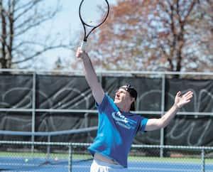 Comme de nombreux autres amateurs, Hugues Léger a pu renouer avec le tennis mercredi.