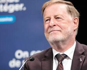 Conférence de presse du premier ministre du Québec, M. François Legault, à Montréal