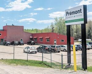 L'usine de transformation du porc Aliments Prémont à Sainte-Angèle-de-Prémont.