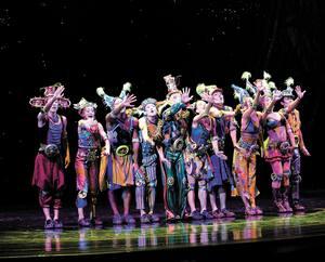 Une représentation de ZAIA, à Macao, tout près de Hong-kong. Le Cirque du Soleil connaît de graves difficultés depuis le début de la pandémie qui l'a forcé à annuler tous ses spectacles.