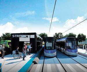 La mise en service du tramway de Québec est projetée pour l'automne 2026.