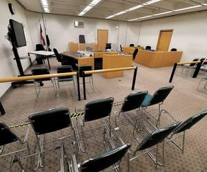 Les palais de justice, comme celui de Québec, que l'on voit sur la photo, ont dû s'adapter afin de pouvoir tenir davantage de séances virtuelles en raison de la pandémie.