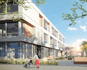Le gouvernement Legault avait présenté une maquette des maisons des aînés en novembre dernier.