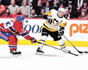 Avec 186 points depuis le début de sa carrière, Sidney Crosby est le joueur actif le plus productif en séries dans la LNH.