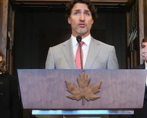 Le premier ministre du Canada Justin Trudeau s'est adressé aux médias hier à Ottawa.