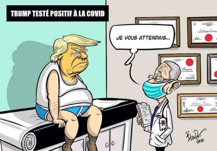 opinions - covid - trump - positif - beaudet - caricature